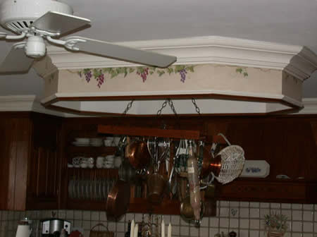 Custom kitchen soffit.