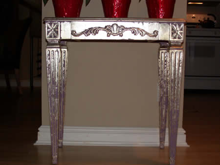 Silver leaf table.